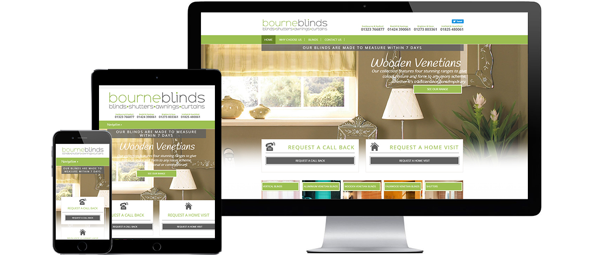 bourne blinds responsive website